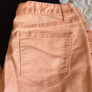 Ankle jeans cropped skinny coral size 6